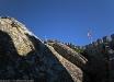 Castello dei Mori (Castelo dos Mouros, Sintra, Portogallo). Dettaglio delle mura dall\'interno.