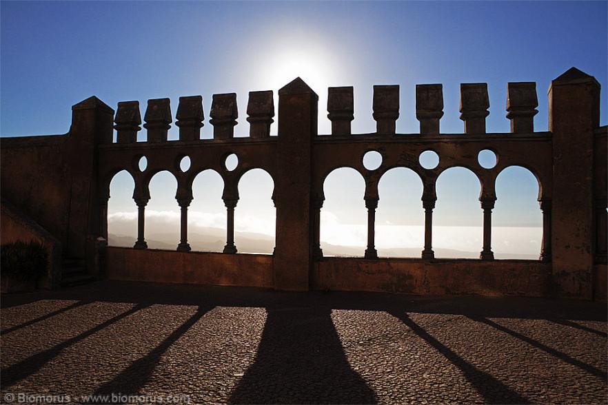 Cortile interno del Palazzo della Pena (Sintra, Portogallo)