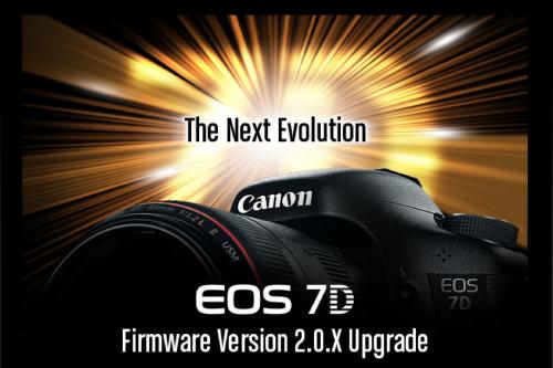 Aggiornamento firmware 2.0.5 per Canon 7D