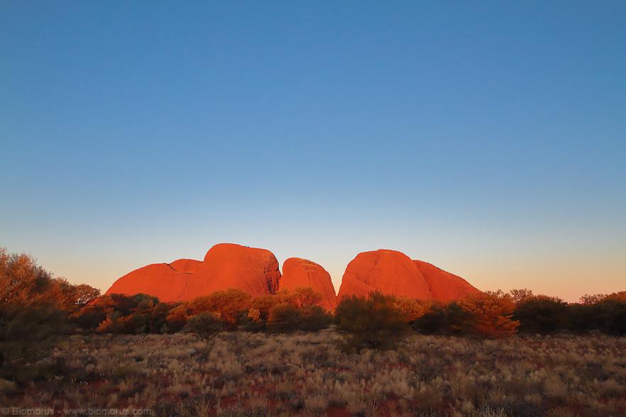 Foto 36 - Le Olgas (Kata Tjuta) infuocate al tramonto (Petermann, Uluru-Kata Tjuta National Park, NT, Australia) - (Dati di scatto: Canon EOS 7D, Sigma 8-16 f/4.5/5.6 DC HSM, 1/160 sec, f/8, ISO 400, treppiede)