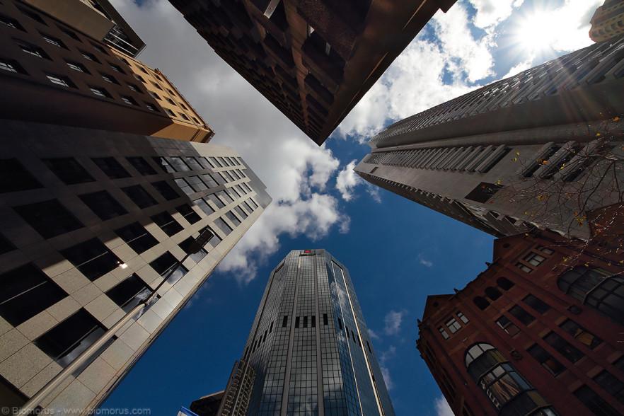 Foto 48 – Grattacieli della city (Sydney, NSW, Australia) – (Dati di scatto: Canon EOS 7D, Sigma 8-16 f/4.5/5.6 DC HSM, 1/400 sec, f/11, ISO 100, mano libera)