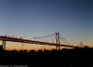 Ponte 25 Aprile al tramonto (Lisbona, Portogallo).